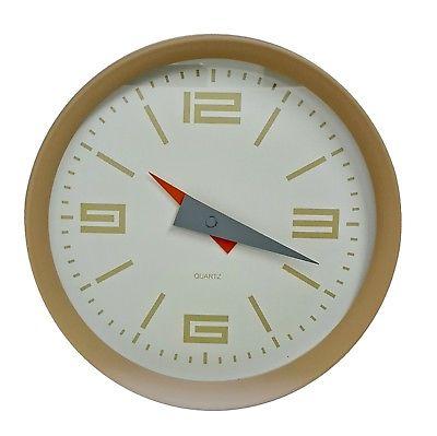 1019 Mebus Wanduhr! beige - braun ! super moderne Farbe ! Durchmesser: 25 cm