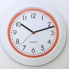 707 Mebus Wanduhr ! weiß - Orange ! modernes design ! 29,5 cm