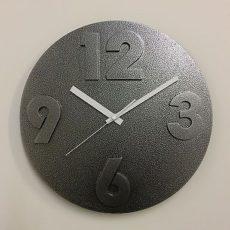 849 Mebus Wanduhr ! grau ! Schickes design ! 31 cm