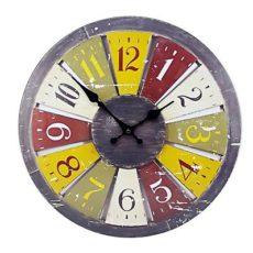 "1062 Mebus Motivwanduhr! ""Roulette"" ! super Design ! Durchmesser: 34 cm"