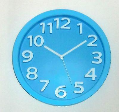 538 Wanduhr ! Mebus ! blau -weiß ! modern ! 32 cm !