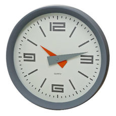 1021 Mebus Wanduhr! grau ! super moderne Farbe ! Durchmesser: 25 cm