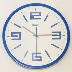 657 Mebus Wanduhr ! blau -weiß, ! super modernes design ! 30,5 cm