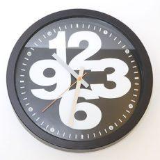 651 Mebus Wanduhr ! Schwarz mit Weiß ! super modernes design ! 32 cm