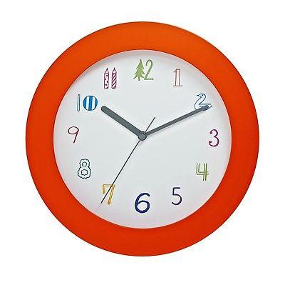 1022 Mebus Wanduhr! orange ! super moderne ! Durchmesser: 25 cm