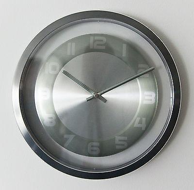 537 Wanduhr ! Mebus ! metall ! 30 cm ! modern !