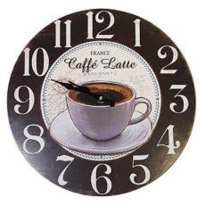 952 Mebus Wanduhr ! Motivuhr ! 33,5 cm Ø , Kaffee design , leises Uhrwerk