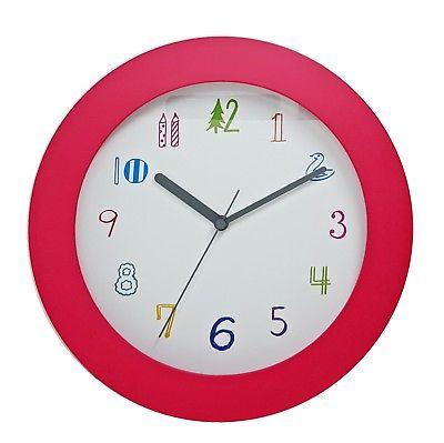 1023 Mebus Wanduhr! pink ! super moderne ! Durchmesser: 25 cm