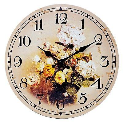1059 Mebus Motivwanduhr! Blumen ! super Design ! Durchmesser: 34 cm