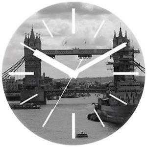 """564 Wanduhr aus Glas """" Städte design """" London """"!!!"""