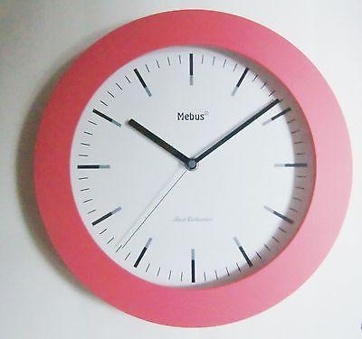 457 Wanduhr pink 29 cm ! super !