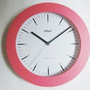 464 Wanduhr pink 25 cm ! super !