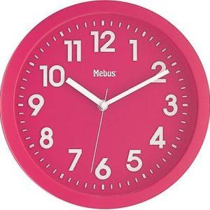 326 Mebus Funk Wanduhr pink -weiß !!!