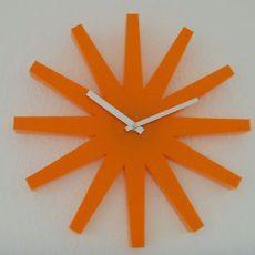 308 Wanduhr Mebus !orange !!super modern !