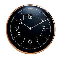 1009 Mebus Wanduhr! Kupfer farben mit schwarz ! Metall ! Durchmesser: 30,5 cm