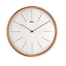 762 Mebus Wanduhr! Messing - Weiß ! 30 cm