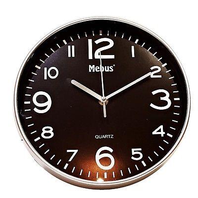 945 Mebus Wanduhr ! super modernes design ! grau - schwarz ! 25 cm, leises Werk