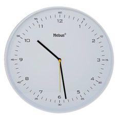1052 Mebus Wanduhr! schickes Design, Durchmesser: 30 cm