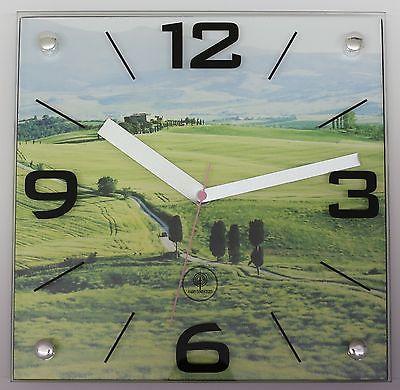 834 Wanduhr Mebus ! Landschaft Motiv ! 28 x 28 cm