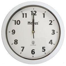 387 Moderner Mebus Funk Wanduhr! weiß schwarz 30 cm !!!