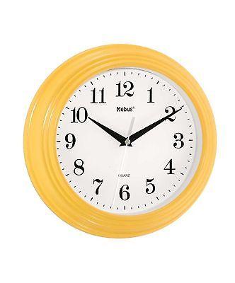 808 Mebus Wanduhr! gelb ! modernes design! 25 cm