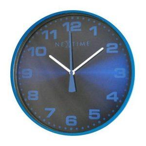 713 Nextime Wanduhr 3053 Dash Blau , 35 cm Durchmesser