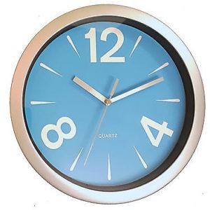 908 Wanduhr Mebus ! grau - blau! super modernes design! 26 cm