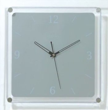 726 Nextime Mega Wanduhr 2851 , transparent mit Grau , 35 x 35 cm