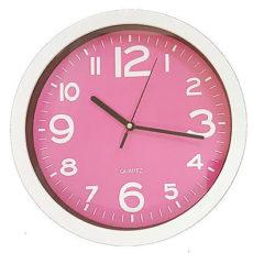 893 Wanduhr Mebus !weiß - pink ! super modern! 25 cm