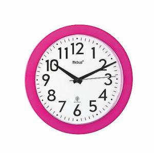 381 Moderner Funkwanduhr , Gehäuse Pink !!!
