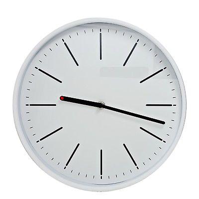 1012 Mebus Wanduhr! weiß ! modern ! Durchmesser: 27,5 cm