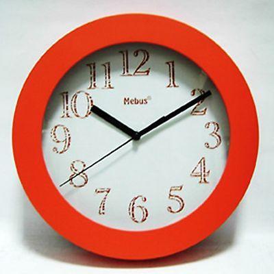 465 Wanduhr orange 25 cm ! super !
