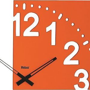 "344 Wanduhr "" Holz "" orange super modern,extravagantes Design !"