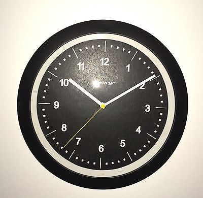 828 Mebus Wanduhr! schwarz & transparent ! super modernes design ! 27,5 cm