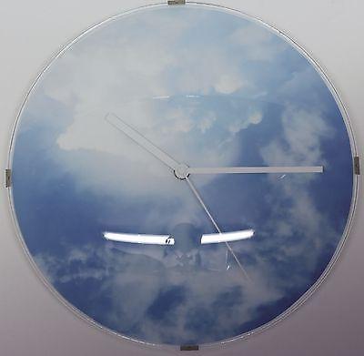 612 Wanduhr ! Super moderne Wanduhr mit Wolken Design !
