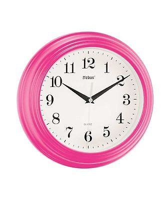 807 Mebus Wanduhr! pink ! modernes design! 25 cm