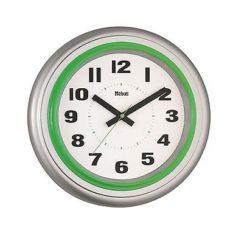 789 Mebus Wanduhr! grau mit grün ! modernes Design! 31,5 cm