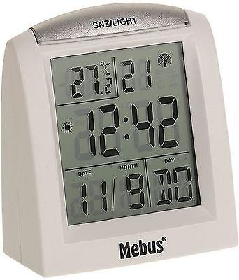 209 digitaler Funkwecker weiß! 2 Weckzeiten ! mit Datum und Temperatur !