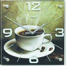 282 Funk Wanduhr! mit Glas! Kaffe Motiv ! Neu !