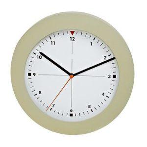 1018 Mebus Wanduhr! grün-grau ! super moderne Farbe ! Durchmesser: 25 cm