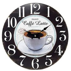 "1064 Mebus Motivwanduhr! "" Caffe Latte "" ! super Design ! Durchmesser: 34 cm"