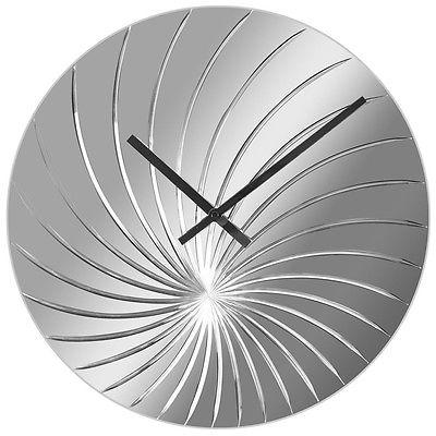 746 Nextime Wanduhr 8134 ,´Glas , Spiegel ! modernes Design ! 43 cm