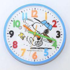 713 Mebus Wanduhr ! Kinderuhr ! blau mit bunten Zahlen , 25,5 cm