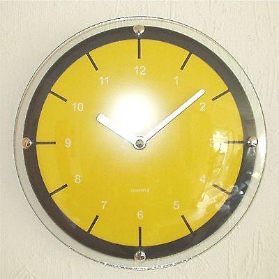 177 Wanduhr ! schwarz - gelb ! super modern ! 31 cm