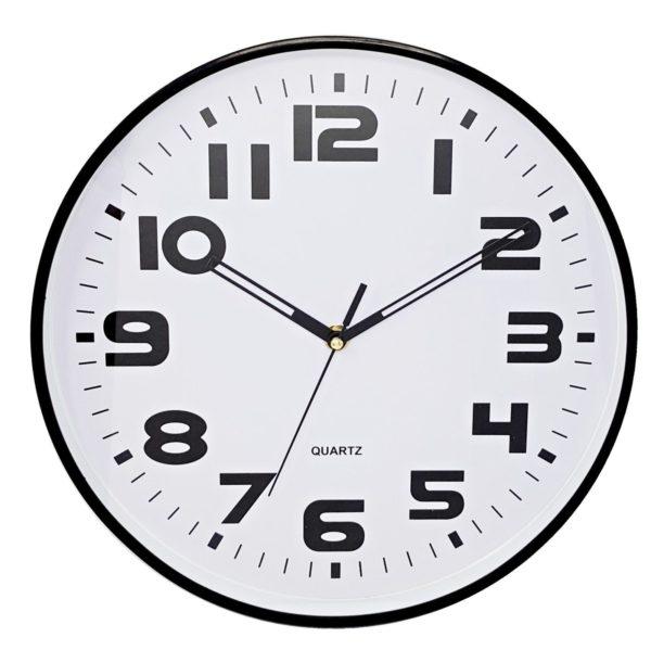 1050 Mebus Wanduhr! Schwarz / Weiß, Modern, super Design ! Durchmesser: 30 cm