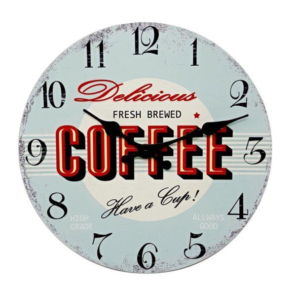 1049 Mebus Motivwanduhr! COFFEE ! super Design ! Durchmesser: 28 cm