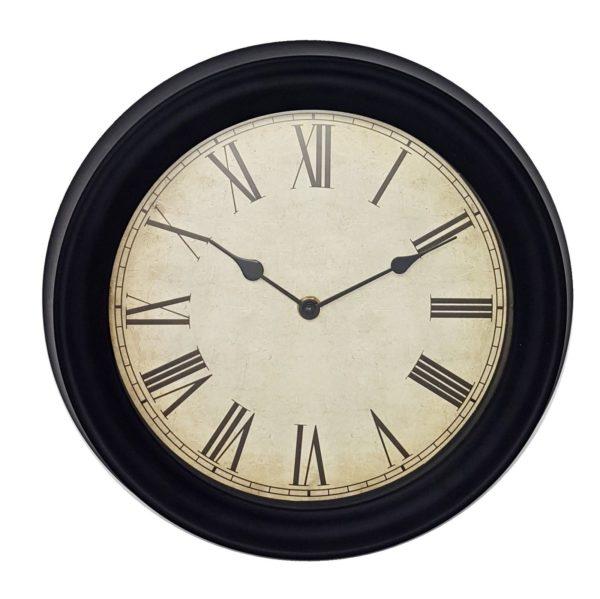 1048 Mebus Wanduhr! Schwarz , Retro, Durchmesser: 31 cm
