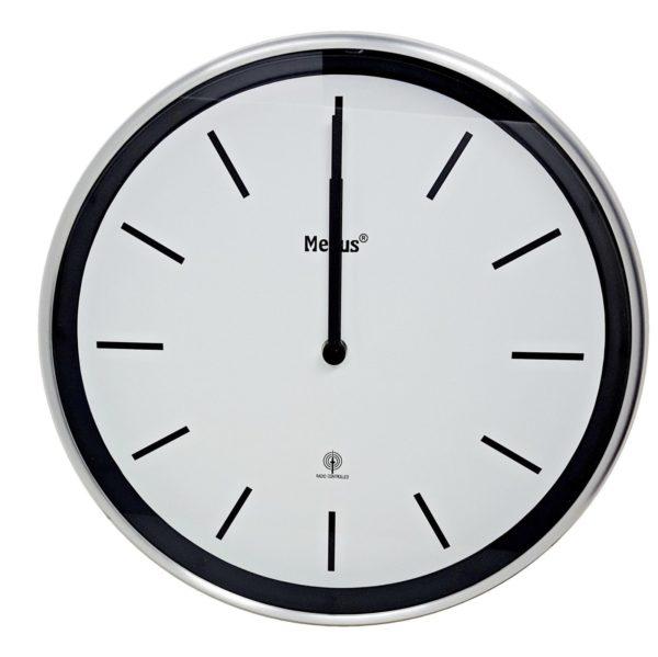 397 Moderner Mebus Funk Wanduhr! Metall ,modernes Design ! Ø 30 cm !!!