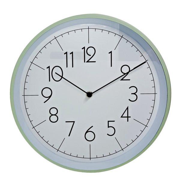 1011 Mebus Wanduhr! Mint grün! Metall ! Durchmesser: 30,5 cm