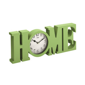 "Elegante Mebus 04995 Tischuhr !"" HOME "" Design ! grün ! 38 x 14,5 cm, 814"